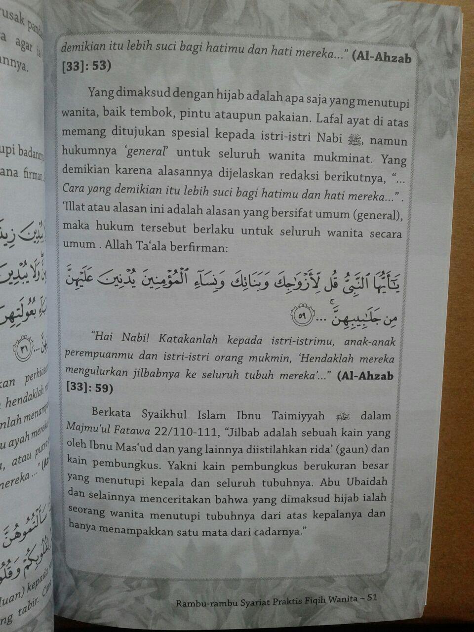 Buku Rambu-Rambu Syariat Praktis Fiqih Wanita isi