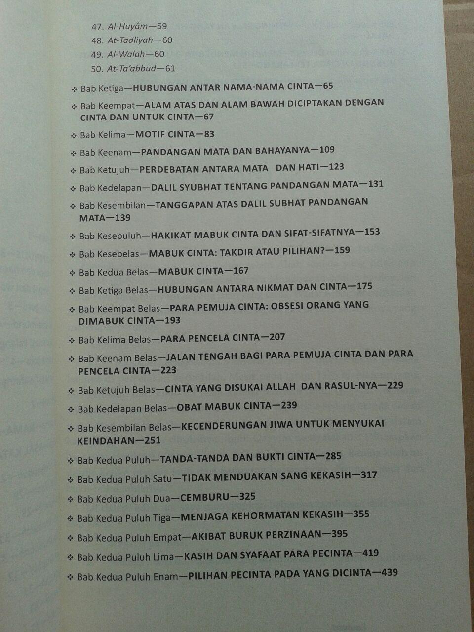 Buku Raudhatul Muhibbin Taman Orang-Orang Jatuh Cinta isi 3