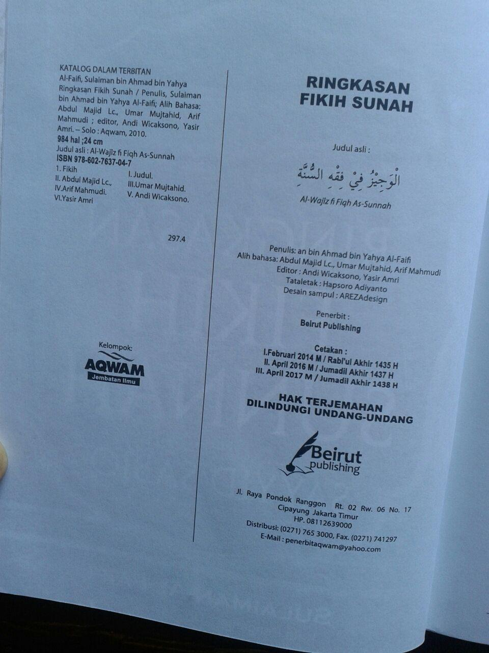 Buku Ringkasan Fikih Sunnah Sayyid Sabiq isi 5