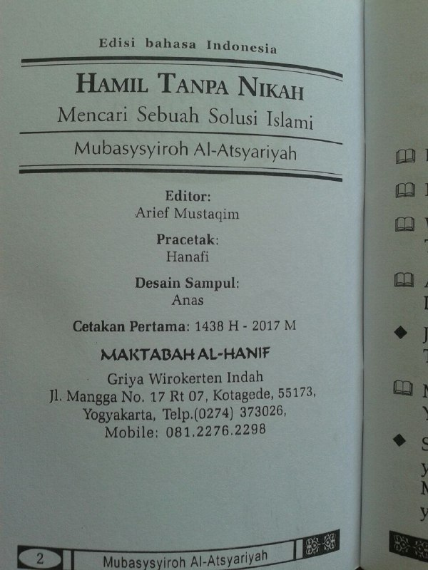 Buku Saku Hamil Tanpa Nikah Mencari Solusi Islami isi 2