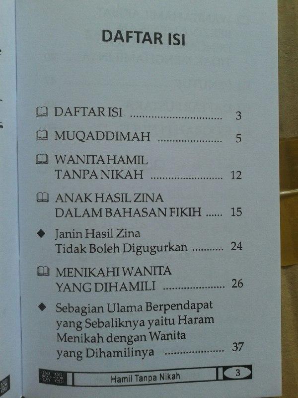 Buku Saku Hamil Tanpa Nikah Mencari Solusi Islami isi