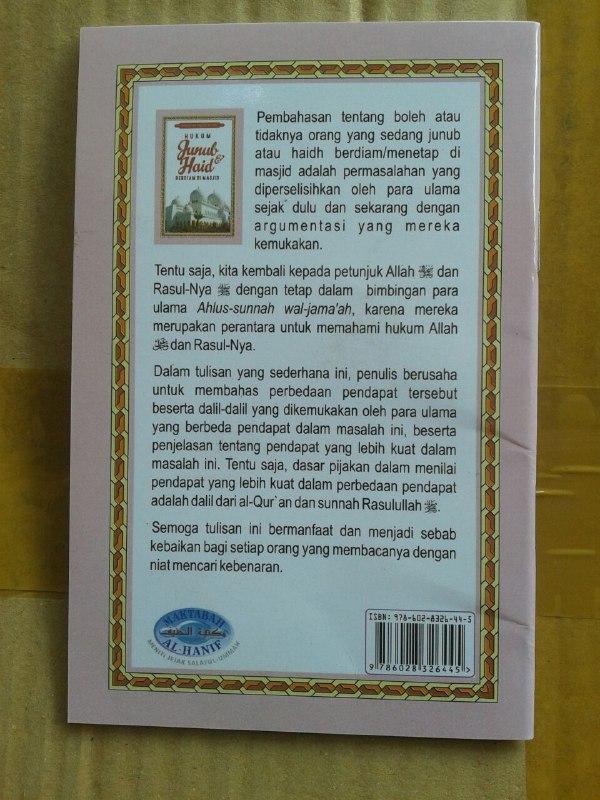 Buku Saku Hukum Junub Dan Haid Berdiam Di Masjid cover 2