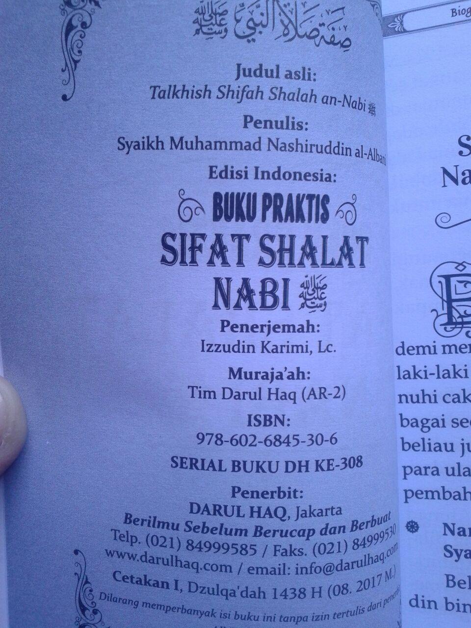 Buku Saku Praktis Sifat Shalat Nabi isi 3