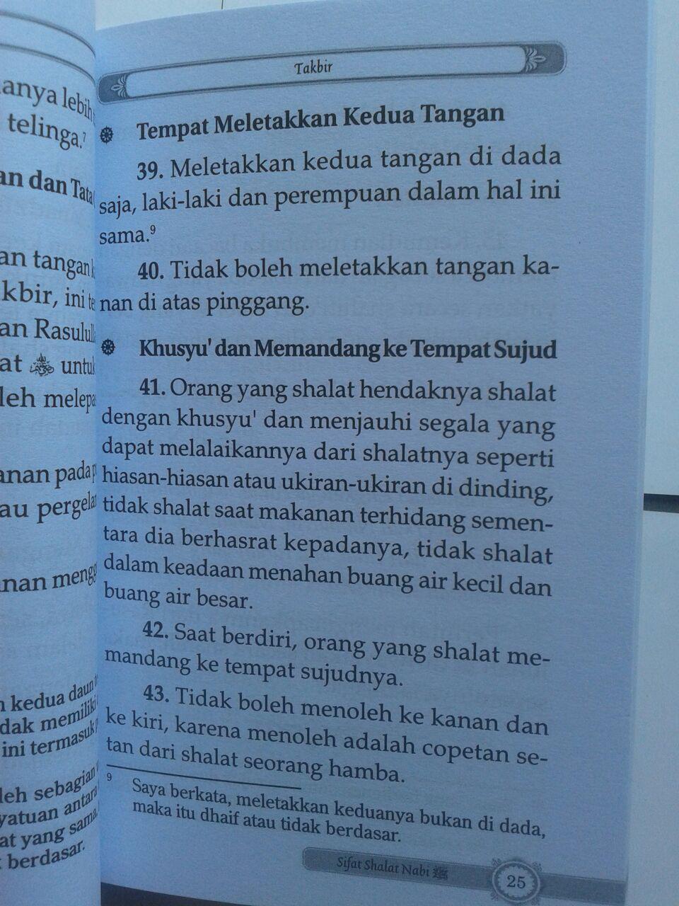 Buku Saku Praktis Sifat Shalat Nabi isi