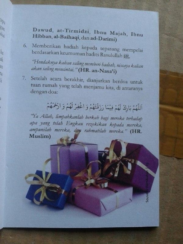 Buku Saku Tuntunan Pernikahan Islami Sesuai Ajaran Nabi isi