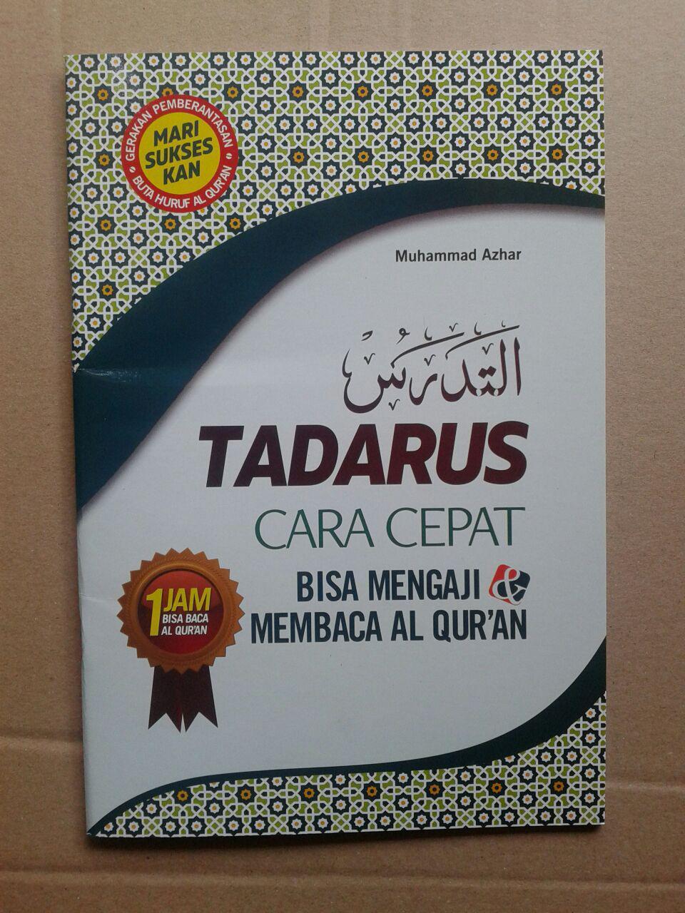 Buku Tadarus Cara Cepat Mengaji Membaca Al-Quran 1 Jam cover