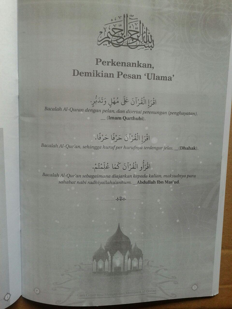Buku Tadarus Cara Cepat Mengaji Membaca Al-Quran 1 Jam isi 3