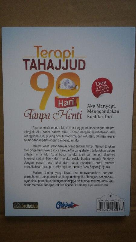 Buku Terapi Tahajjud 90 Hari Tanpa Henti cover 2