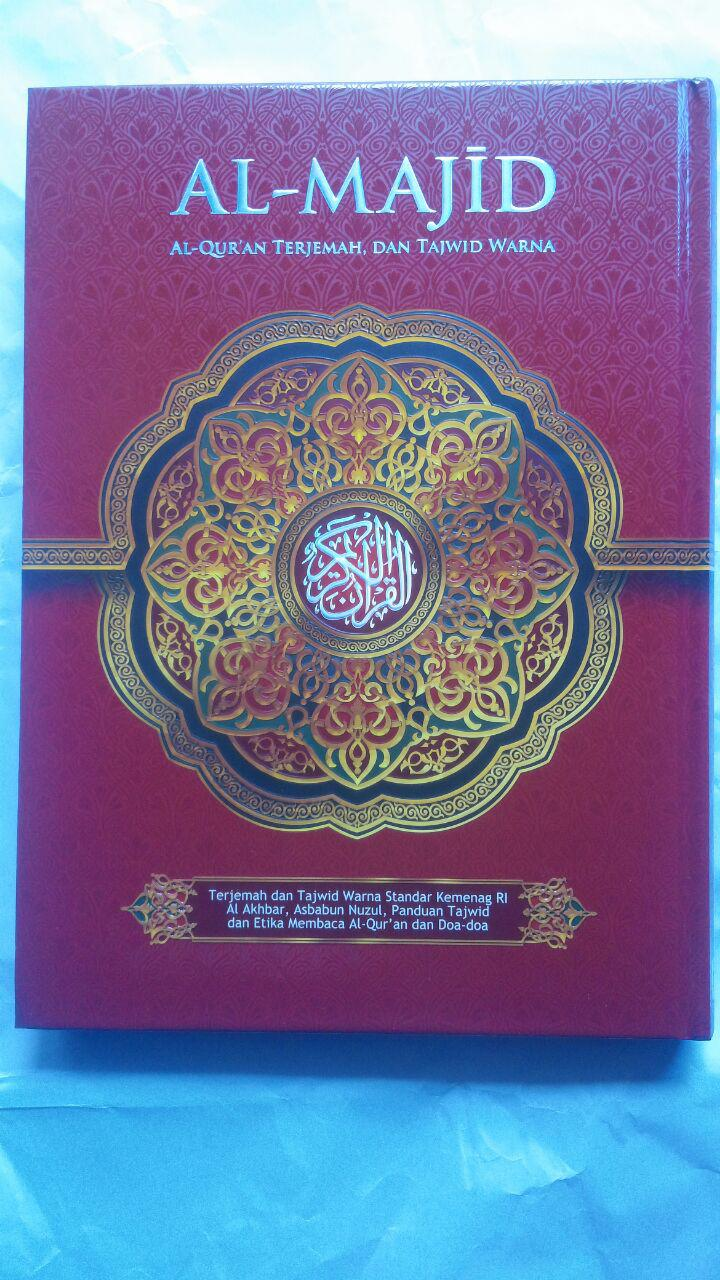Al-Quran Terjemah Dan Tajwid Warna Al-Majid Ukuran A4 105,000 15% 89,250 cover