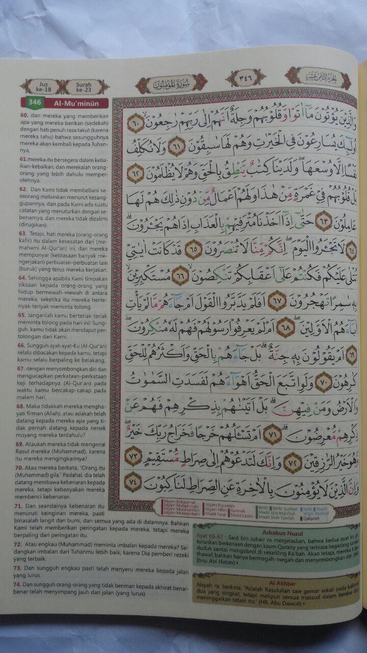 Al-Quran Terjemah Dan Tajwid Warna Al-Majid Ukuran A4 105,000 15% 89,250 isi