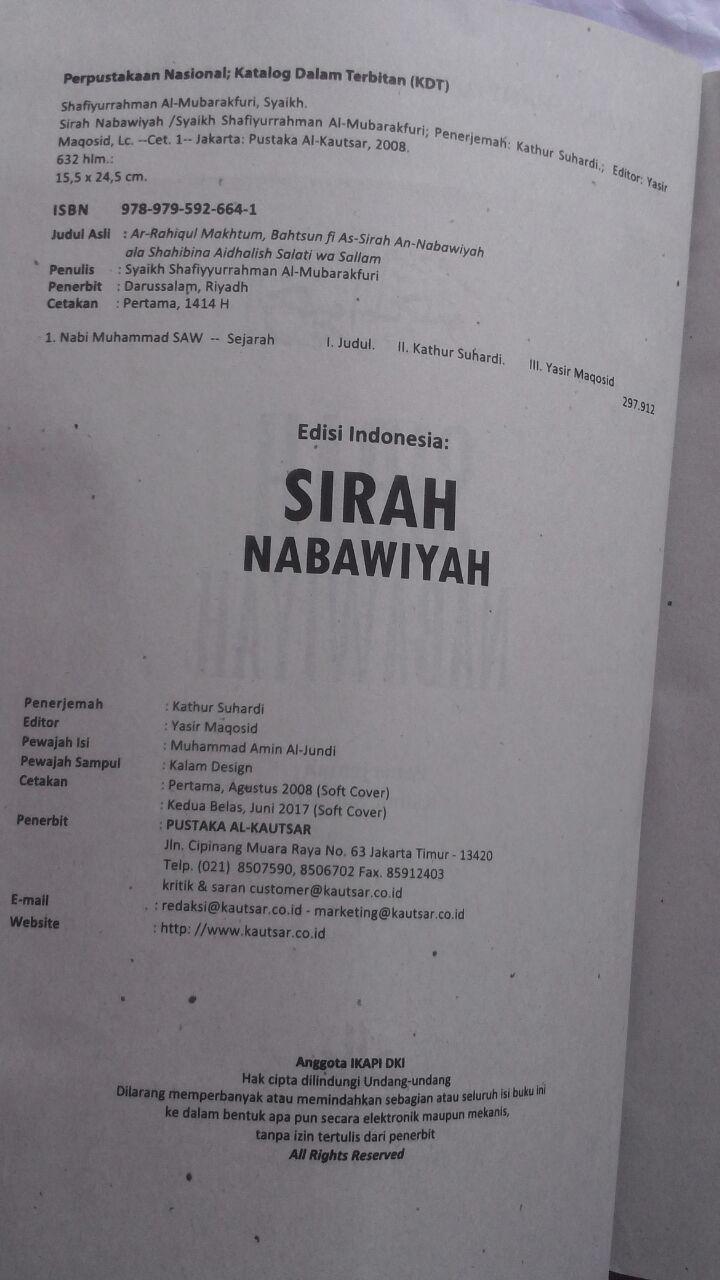 BK2791 Buku Sirah Nabawiyah Ar-Rahiq Al-Makhtum SC 75.000 20% 60.000 Pustaka Al-Kautsar isi 4