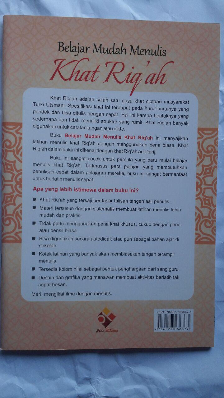 BK2793 Buku Belajar Mudah Menulis Khat Riqah 21.500 15% 18.275 Pena Hikmah cover 2