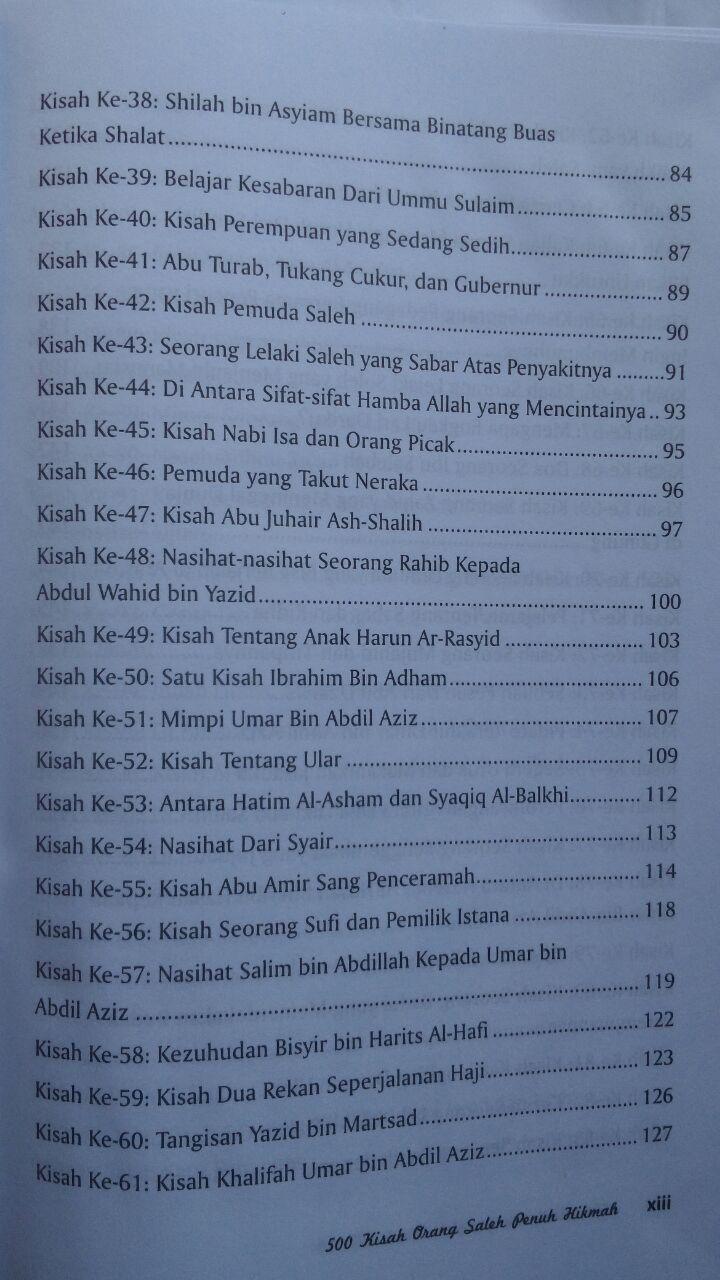 BK2797 Buku 500 Kisah Orang Saleh Penuh Hikmah 210.000 20% 168.000 Pustaka Al-Kautsar isi 3