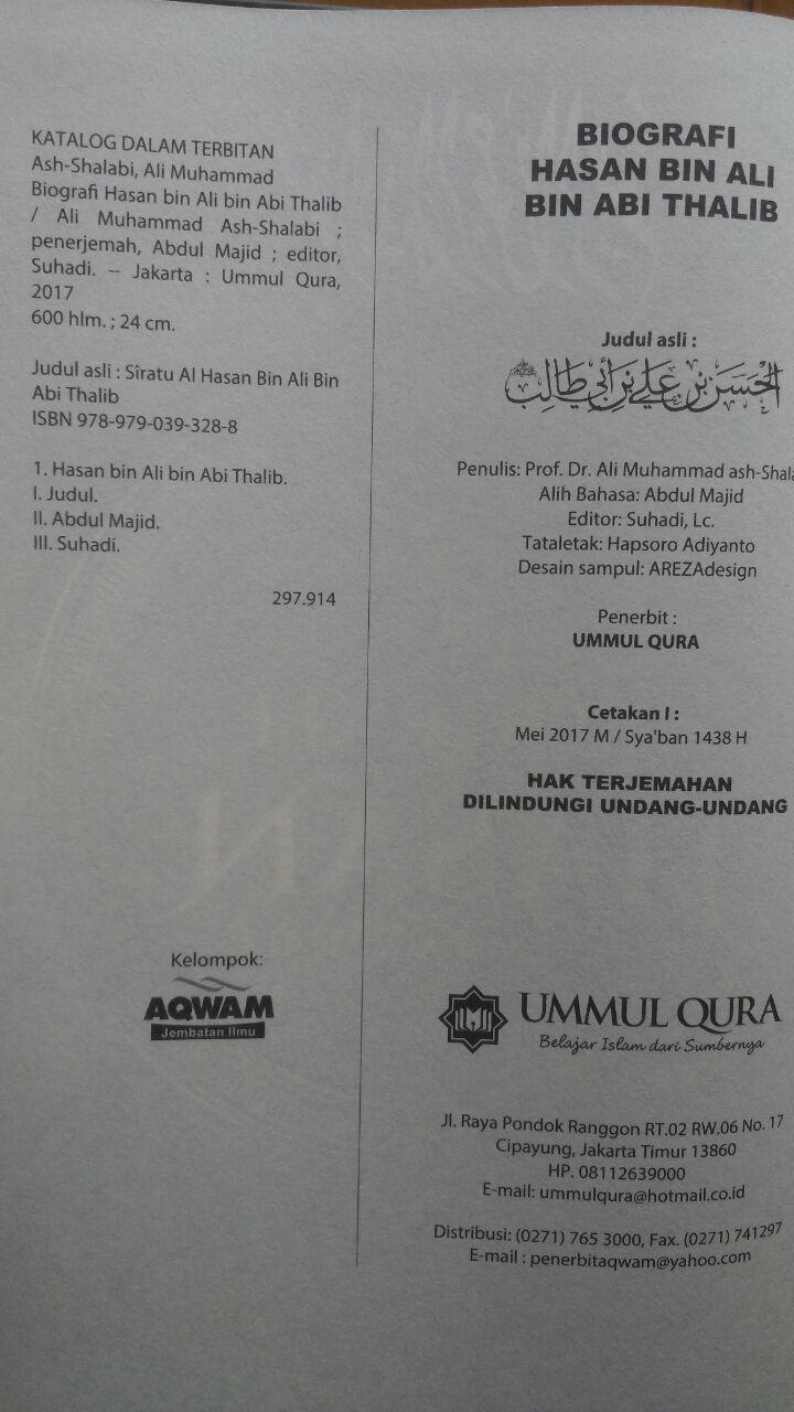 Biografi Hasan Bin Ali Bin Abi Thalib 125.000 20% 100.000 Ummul Qura isi 3