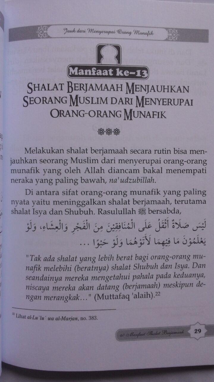 Buku 40 Manfaat Shalat Berjamaah 15.000 15% 12.750 Darul Haq isi 2
