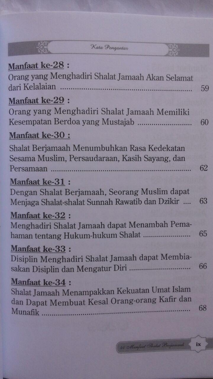 Buku 40 Manfaat Shalat Berjamaah 15.000 15% 12.750 Darul Haq isi 3