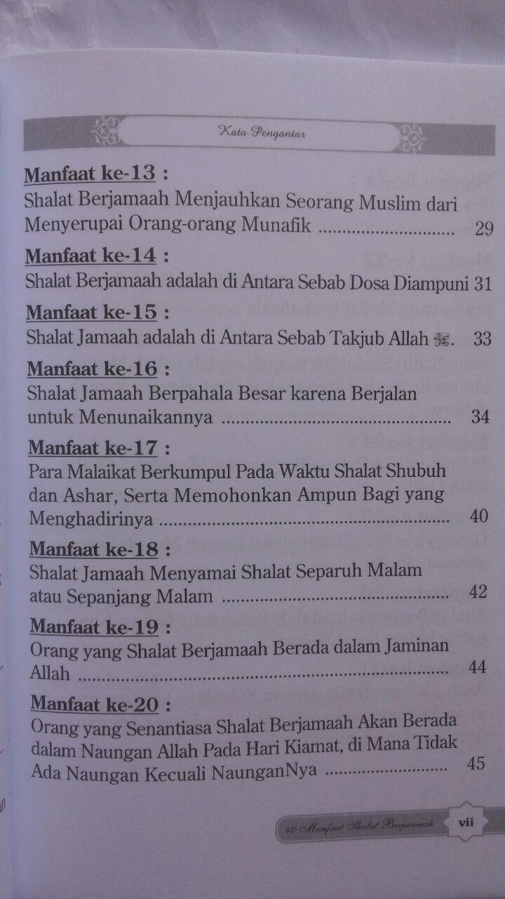 Buku 40 Manfaat Shalat Berjamaah 15.000 15% 12.750 Darul Haq isi 4