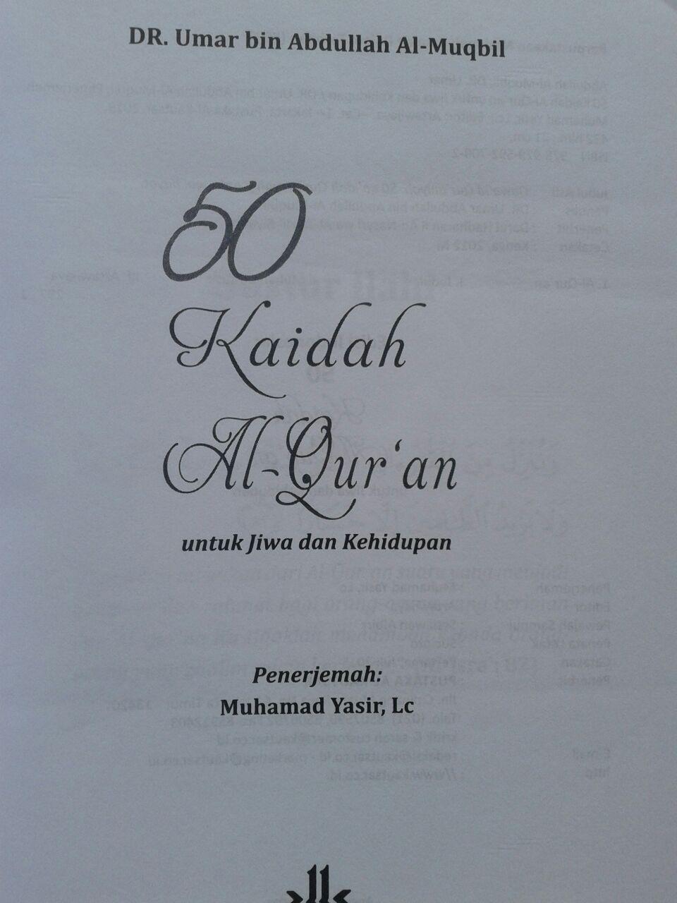 Buku 50 Kaidah Al-Qur'an Dalam Jiwa Dan Kehidupan 75.000 20% 60.000 Pustaka Al-Kautsar isi 5