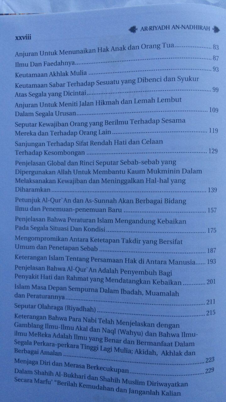 Buku Ar-Riyadh An-Nadhirah Untaian Nasihat Aqidah Akhlak Dan Lainnya 90.000 20% 72.000 Darus Sunnah Syaikh Abdurrahman bin Nashir As-Sa'di isi 3