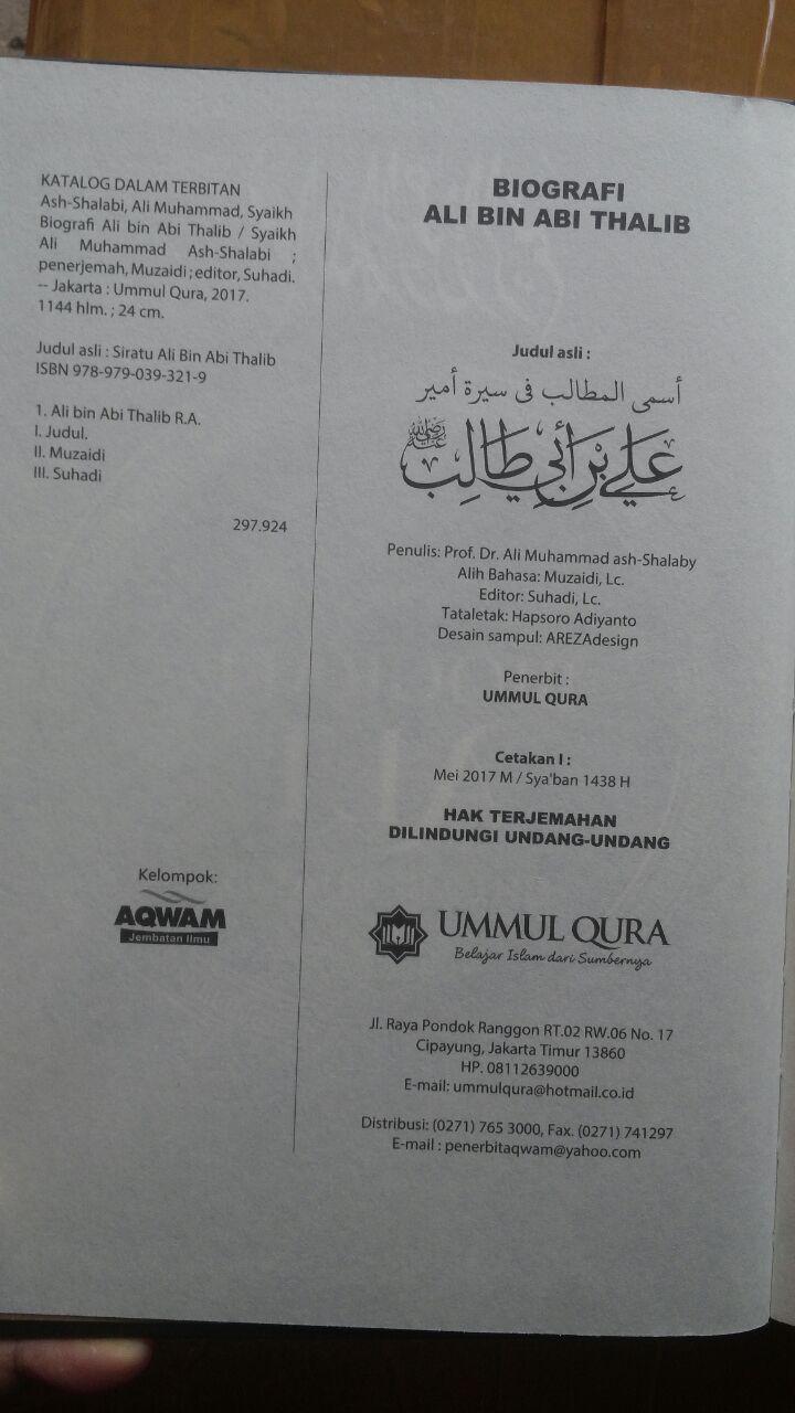 Buku Biografi Ali bin Abi Thalib 175.000 20% 140.000 Ummul Qura isi 3