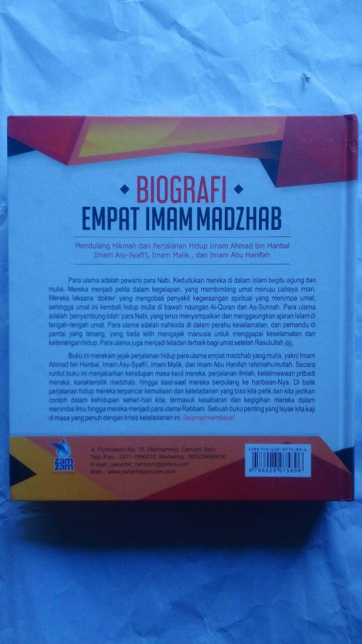Buku Biografi Empat Imam Mazhab Mendulang Hikmah Perjalanan 160.000 20% 128.000 Zam Zam Dr. Thariq As-Suwaidan cover