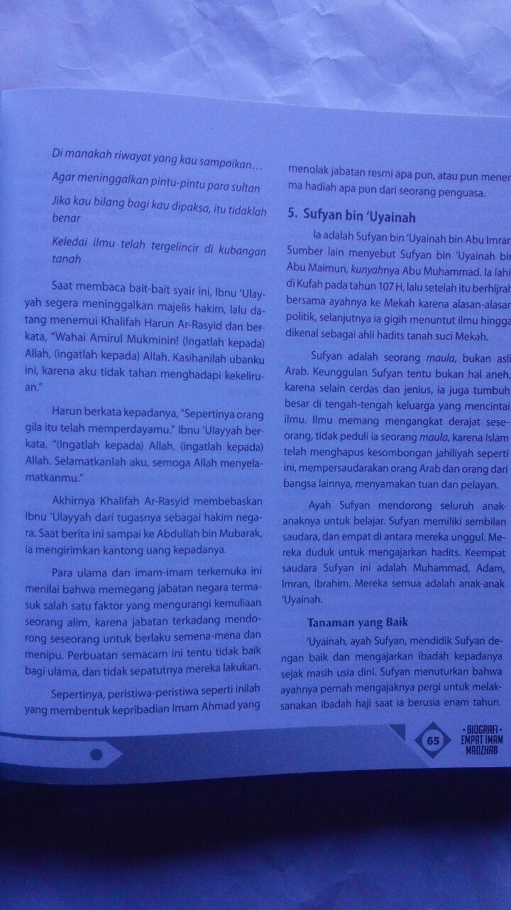 Buku Biografi Empat Imam Mazhab Mendulang Hikmah Perjalanan 160.000 20% 128.000 Zam Zam Dr. Thariq As-Suwaidan isi 2