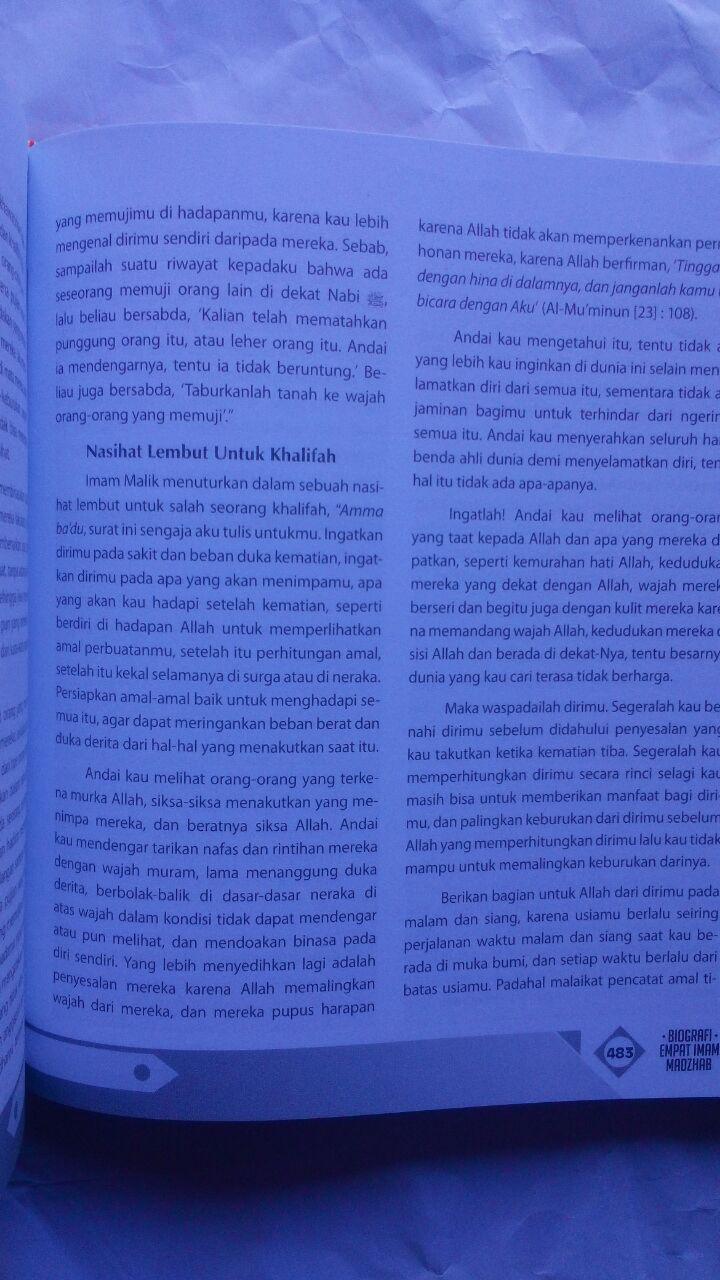 Buku Biografi Empat Imam Mazhab Mendulang Hikmah Perjalanan 160.000 20% 128.000 Zam Zam Dr. Thariq As-Suwaidan isi