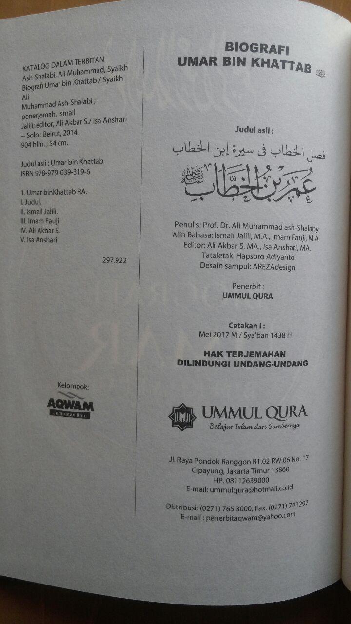 Buku Biografi Umar Bin Khattab 165.000 202.000 Ummul Qura isi 2
