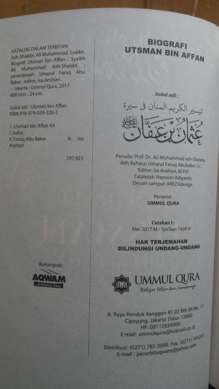 Buku Biografi Utsman Bin Affan 125.000 20% 100.000 Ummul Qura isi 3