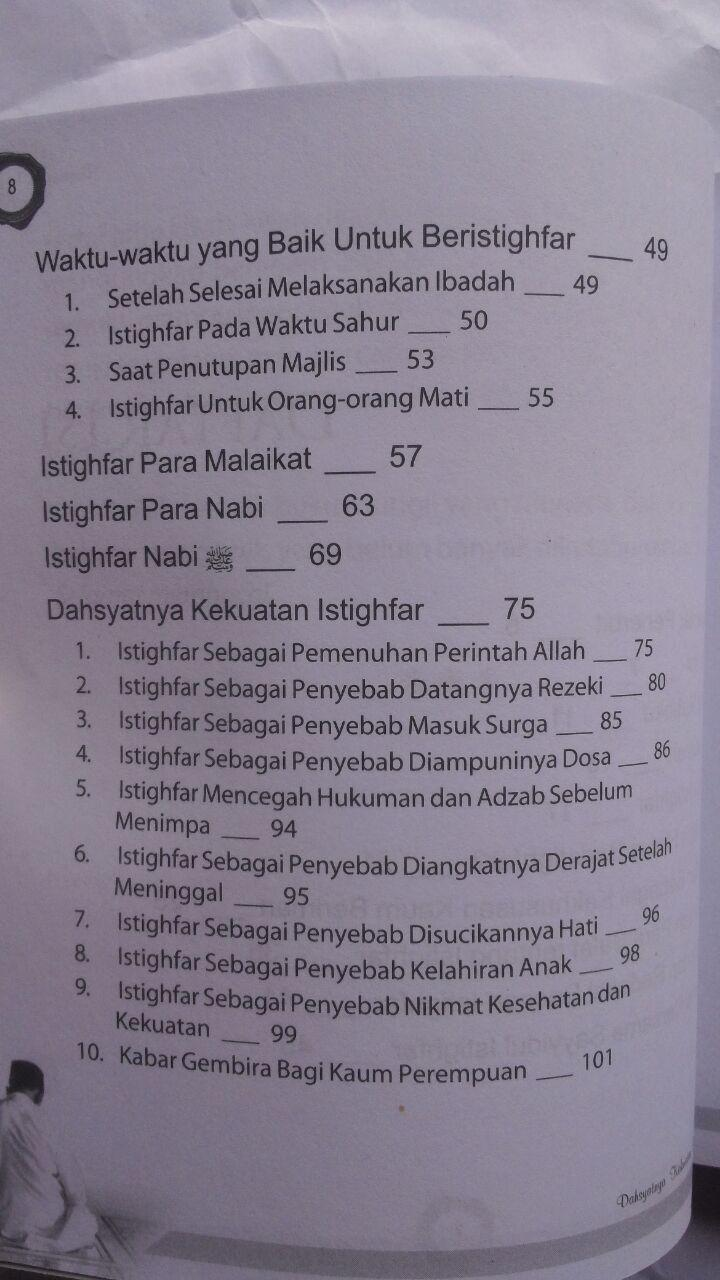 Buku Dahsyatnya Kekuatan Istighfar 22.000 15% 18.700 Kiswah Media Hasan bin Ahmad Hammam isi 2