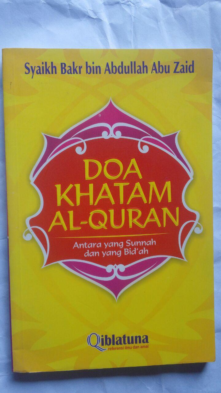 buku doa khatam al quran antara sunnah dan bidah