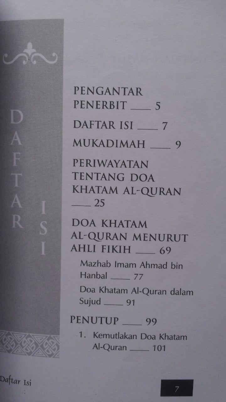 Buku Doa Khatam Al-Quran Antara Sunnah Dan Bidah 18.500 15% 15.725 Qiblatuna Syaikh Bakr Bin Abdullah Abu Zaid isi 2