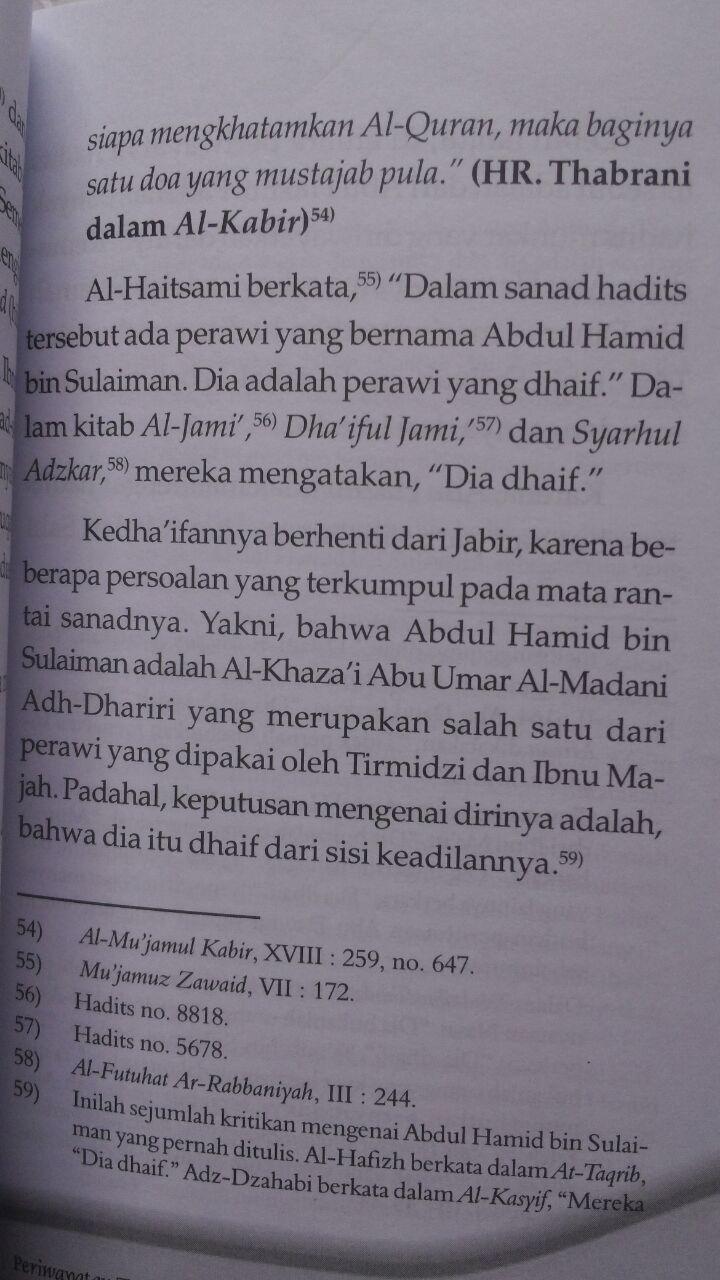 Buku Doa Khatam Al-Quran Antara Sunnah Dan Bidah 18.500 15% 15.725 Qiblatuna Syaikh Bakr Bin Abdullah Abu Zaid isi