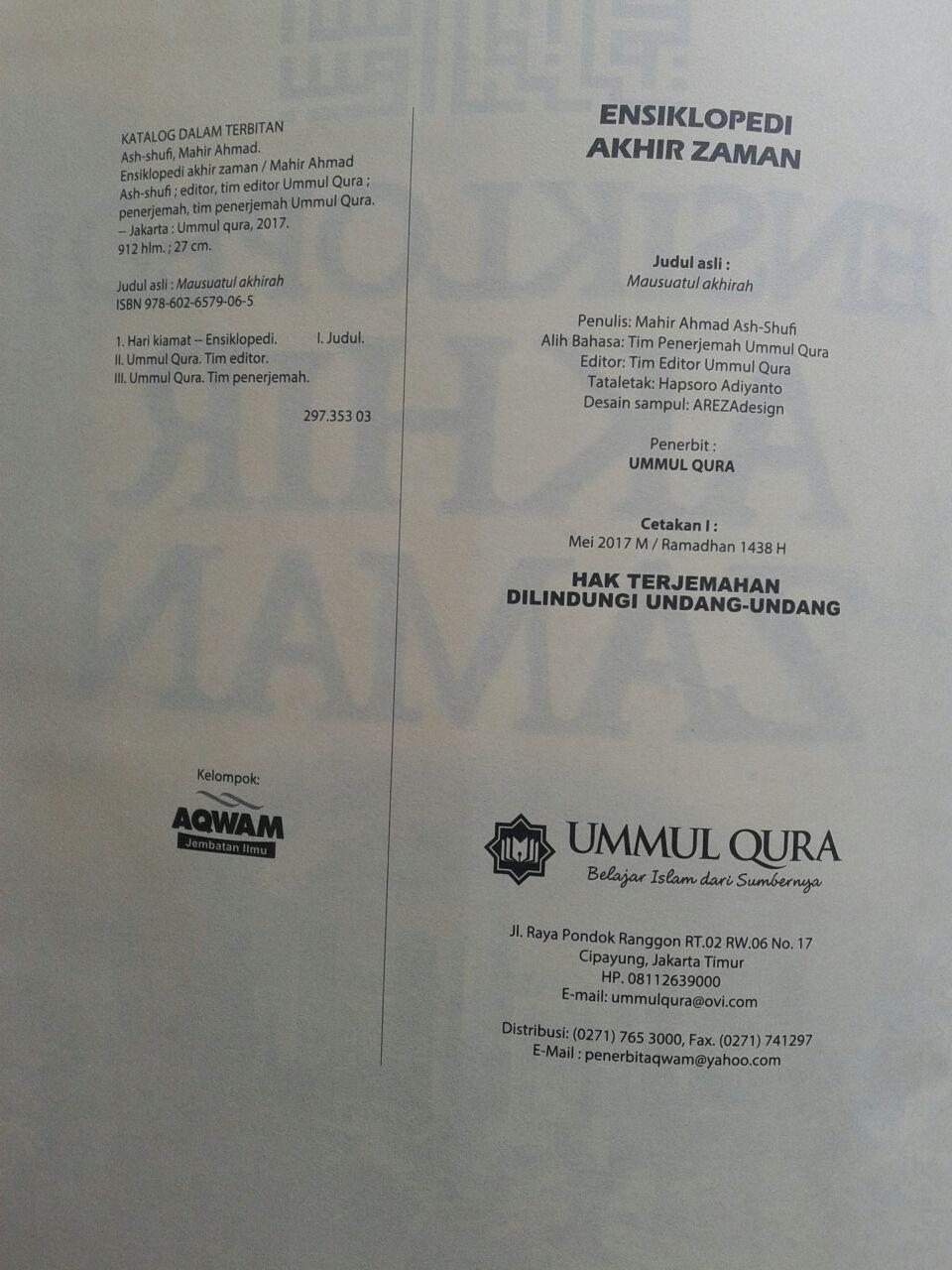 Buku Ensiklopedi Akhir Zaman 199.000 20% 159.200 Ummul Qura isi 3