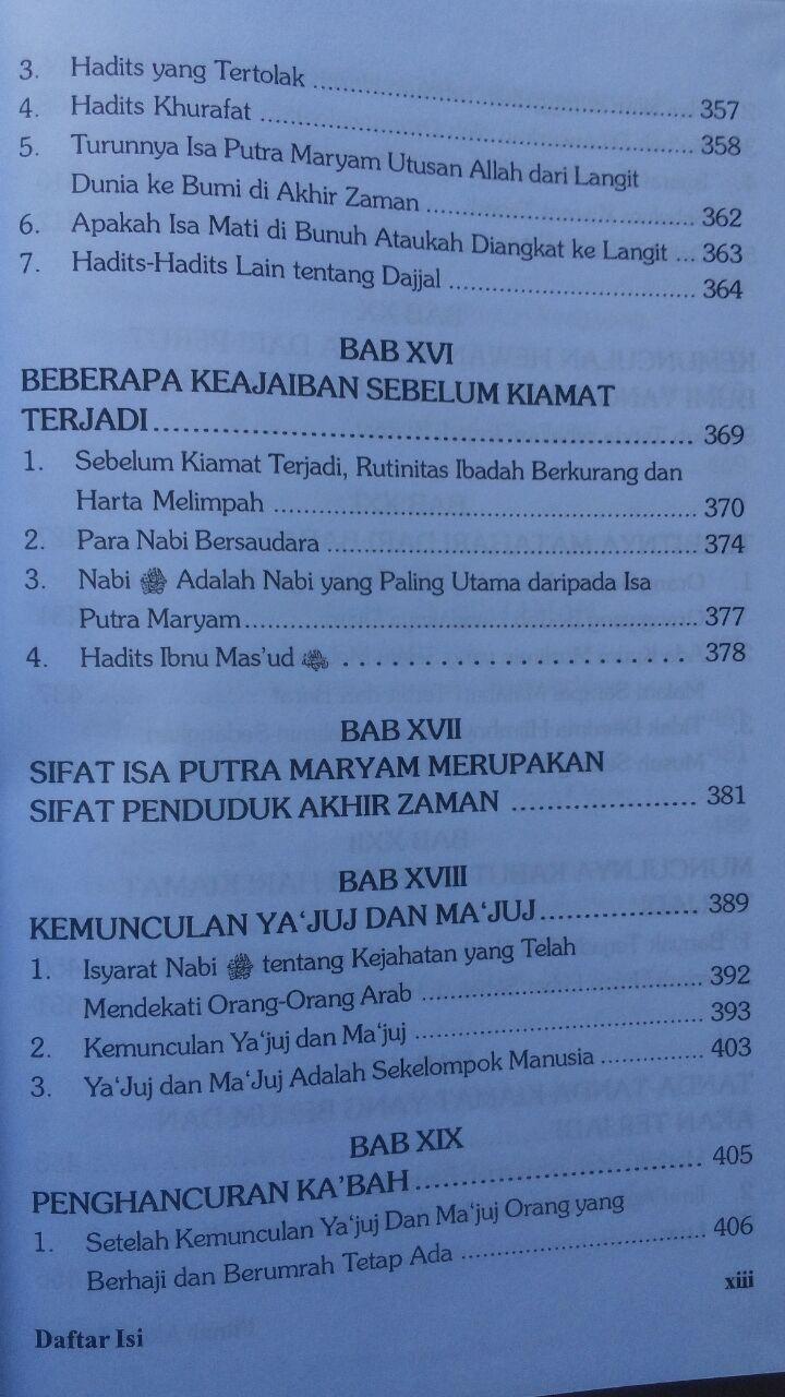 Buku Fitnah Akhir Zaman 1 Set 3 Jilid 441.000 20% 352.800 Pustaka Azzam isi 3