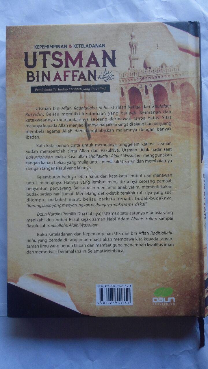 Buku Kepemimpinan Dan Keteladanan Utsman Bin Affan 100.000 20% 80.000 Daun Publishing Fariq Gasim Anuz cover