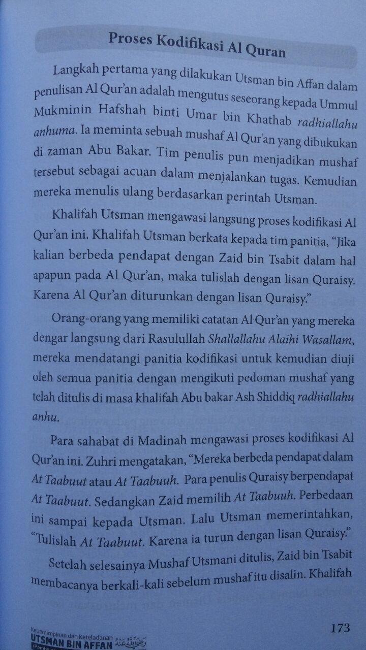 Buku Kepemimpinan Dan Keteladanan Utsman Bin Affan 100.000 20% 80.000 Daun Publishing Fariq Gasim Anuz isi