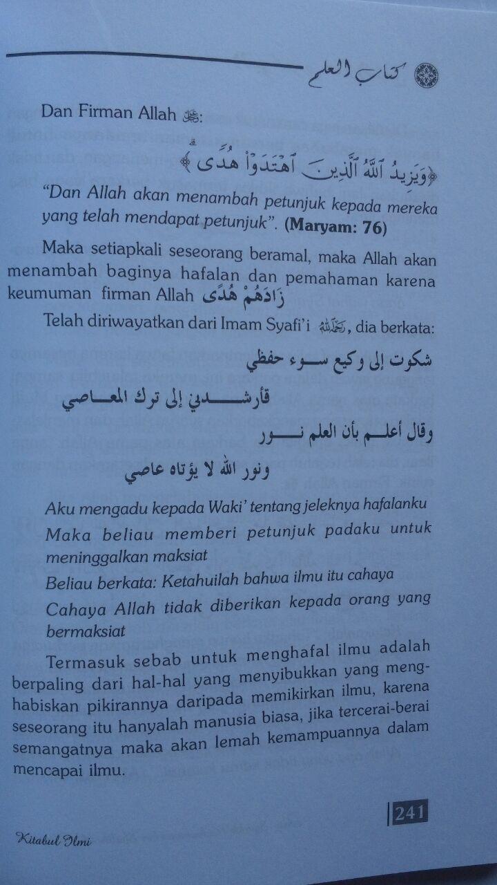 Buku Kitab Al-Ilmi Panduan Dalam Menuntut Ilmu Agama 78,000 20% 62,400 Gema Ilmu isi