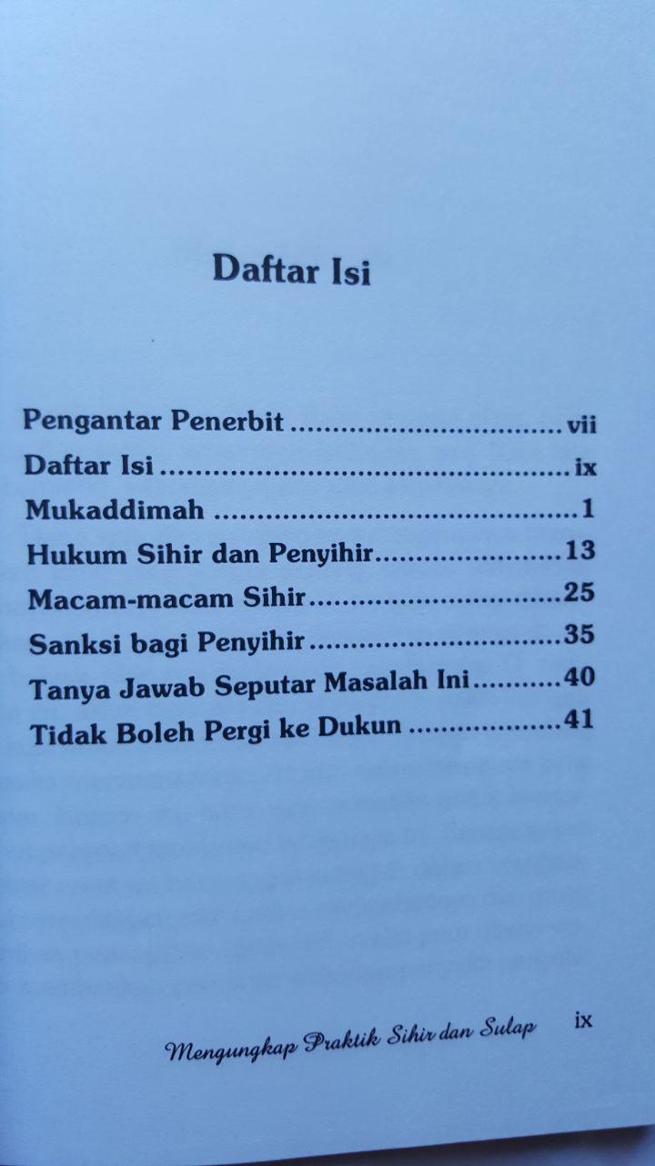 Buku Mengungkap Praktis Sihir Dan Sulap 16.000 15% 13.600 Pustaka At-Tazkia isi 2