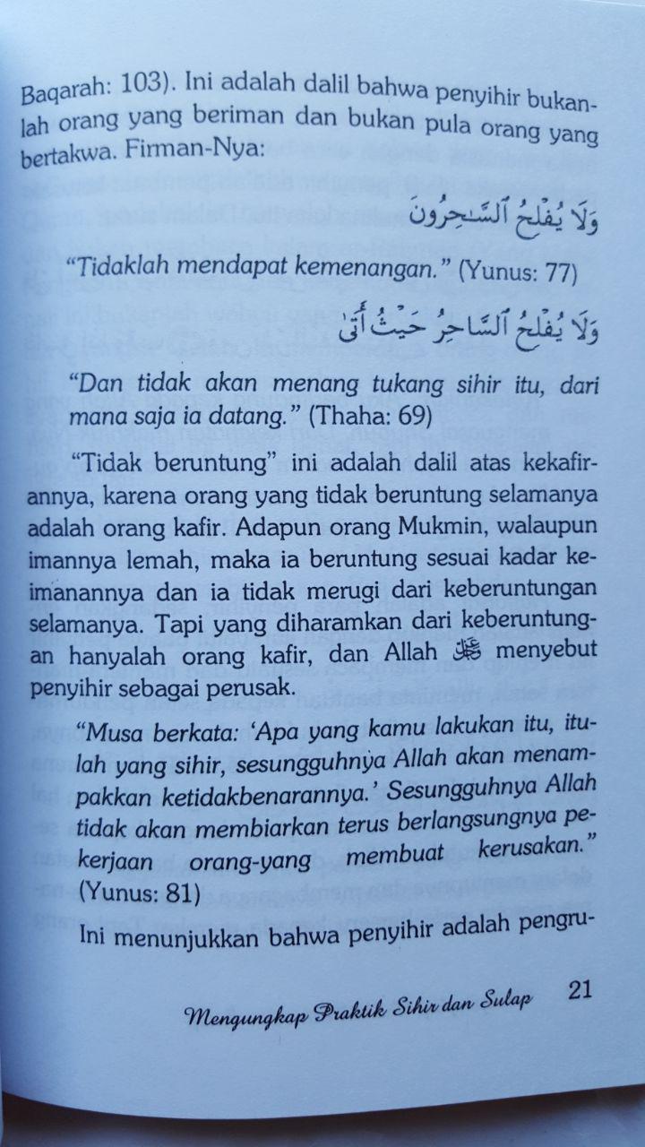 Buku Mengungkap Praktis Sihir Dan Sulap 16.000 15% 13.600 Pustaka At-Tazkia isi 3