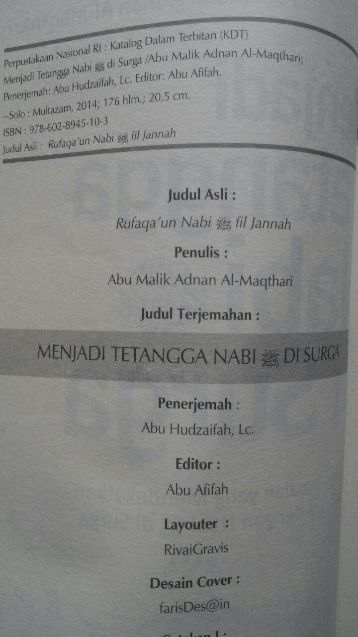 Buku Menjadi Tetangga Nabi Di Surga 32.000 15% 27.200 Multazam Abu Malik Adnan Al-Maqthari isi 2