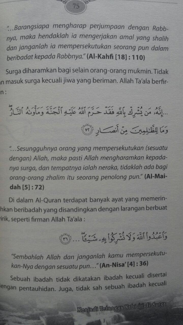 Buku Menjadi Tetangga Nabi Di Surga 32.000 15% 27.200 Multazam Abu Malik Adnan Al-Maqthari isi
