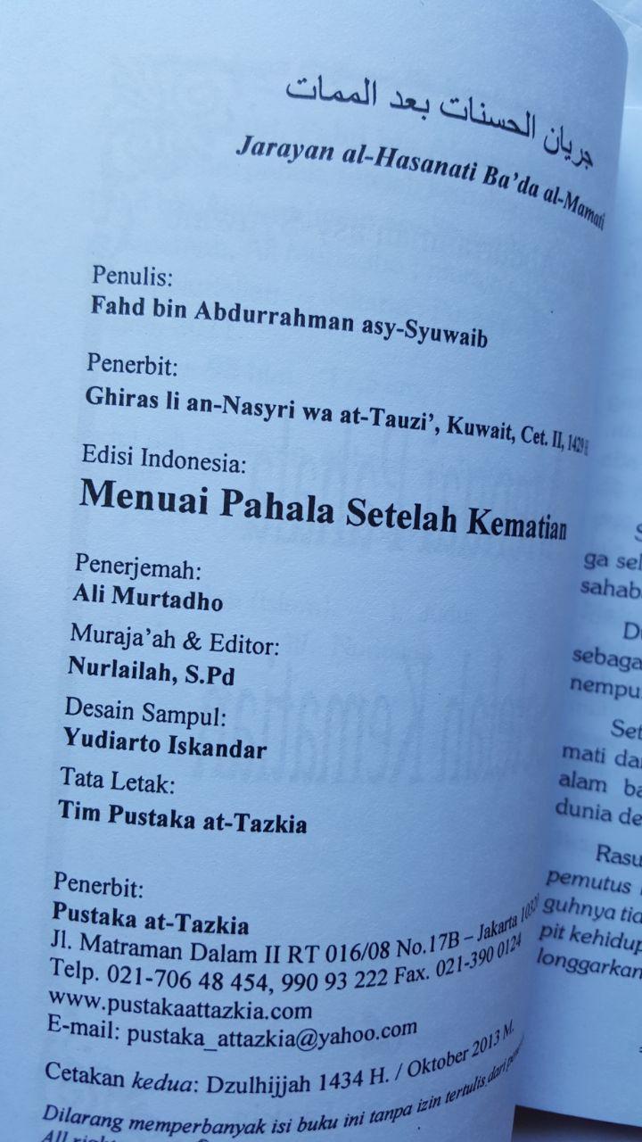 Buku Menuai Pahala Setelah Kematian 14.000 15% 11.900 Pustaka At-Tazkia isi 4