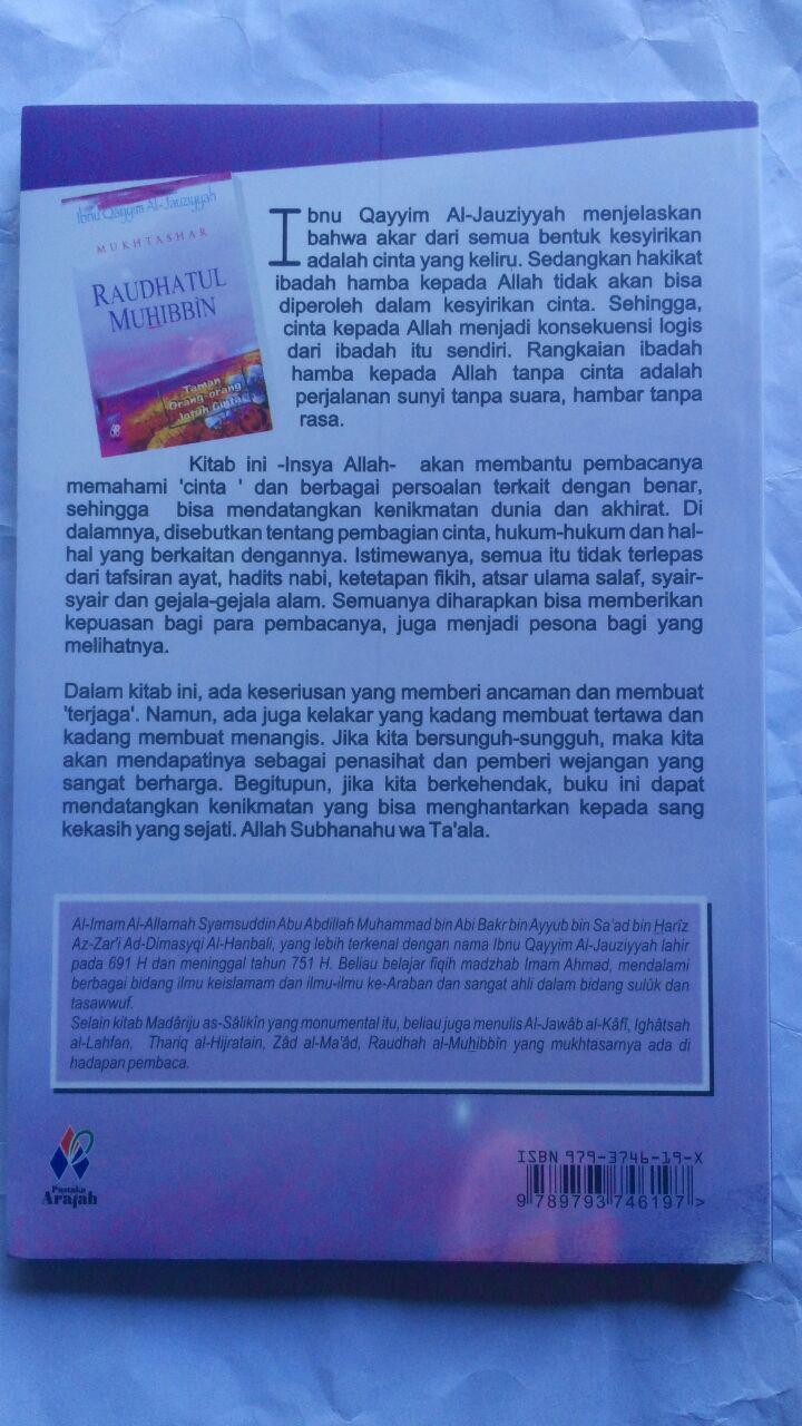 Buku Mukhtashar Raudhatul Muhibbin Taman Orang Jatuh Cinta 29.000 15% 24.650 Pustaka Arafah Ibnu Qayyim Al-Jauziyyah cove