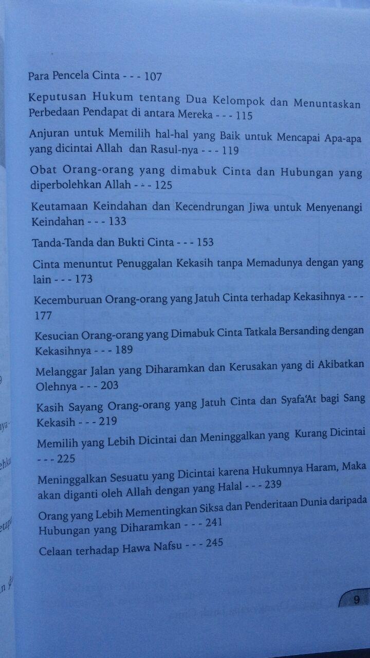 Buku Mukhtashar Raudhatul Muhibbin Taman Orang Jatuh Cinta 29.000 15% 24.650 Pustaka Arafah Ibnu Qayyim Al-Jauziyyah isi 3