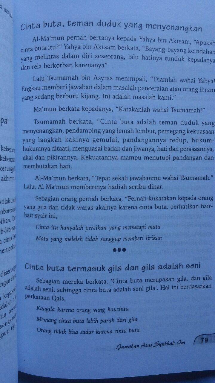Buku Mukhtashar Raudhatul Muhibbin Taman Orang Jatuh Cinta 29.000 15% 24.650 Pustaka Arafah Ibnu Qayyim Al-Jauziyyah isi
