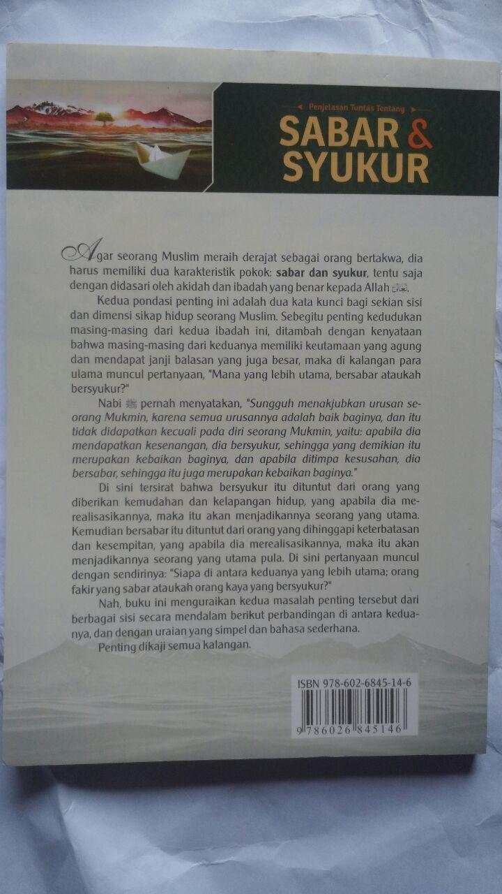 Buku Penjelasan Tuntas Tentang Sabar Dan Syukur 25.000 15% 21.250 Darul Haq Ibnu Qayyim Al-Jauziyyah cover