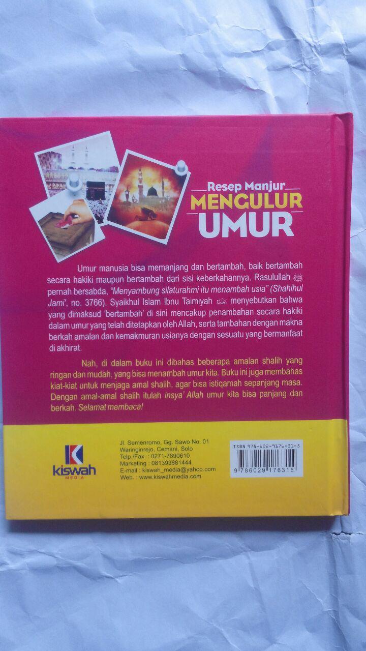 Buku Resep Manjur Mengulur Umur 21.000 15% 17.850 Kiswah Media Abdullah bin Ali Al-Ghamidi cover