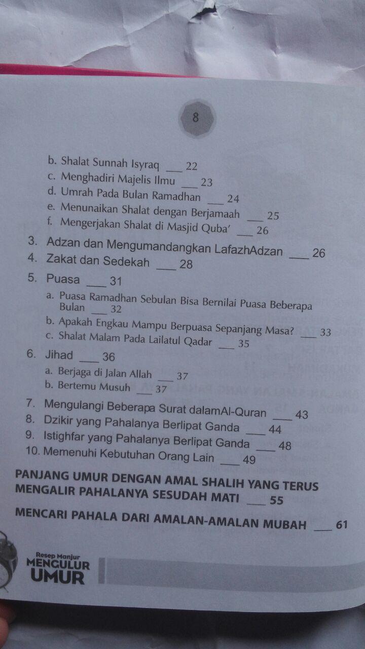 Buku Resep Manjur Mengulur Umur 21.000 15% 17.850 Kiswah Media Abdullah bin Ali Al-Ghamidi isi 3