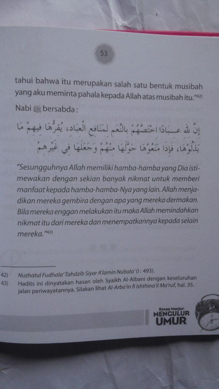 Buku Resep Manjur Mengulur Umur 21.000 15% 17.850 Kiswah Media Abdullah bin Ali Al-Ghamidi isi
